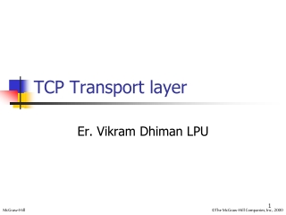 Chapter 5 TCP Handshakes, Sliding Window Flow Control