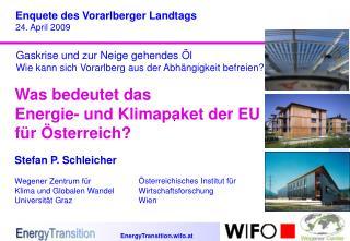 Was bedeutet das  Energie- und Klimapaket der EU für Österreich?