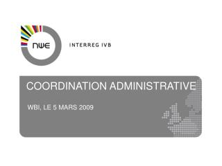 COORDINATION ADMINISTRATIVE