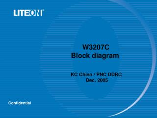 W3207C Block diagram