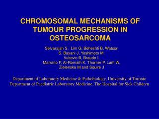 CHROMOSOMAL MECHANISMS OF TUMOUR PROGRESSION IN OSTEOSARCOMA