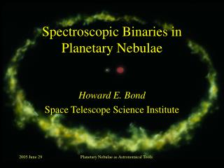 Spectroscopic Binaries in Planetary Nebulae