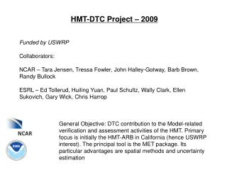 HMT-DTC Project – 2009