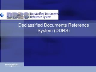 Declassified Documents Reference System (DDRS)