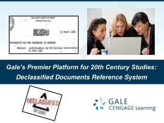 Gale's Premier Platform for 20th Century Studies: Declassified Documents Reference System