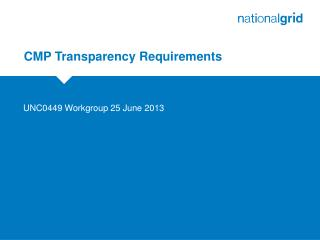 CMP Transparency Requirements