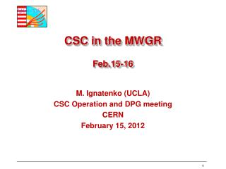 CSC  in the MWGR Feb.15-16