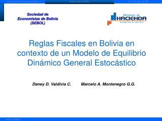 Reglas Fiscales en Bolivia en contexto de un Modelo de Equilibrio Dinámico General Estocástico