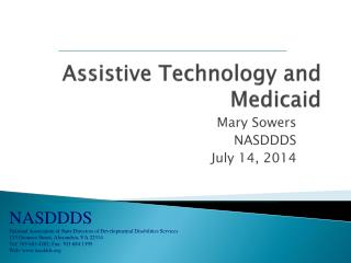 Assistive Technology and Medicaid
