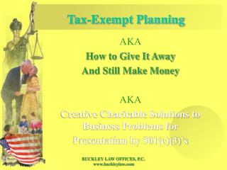 Tax-Exempt Planning
