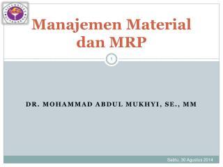 Manajemen Material dan MRP