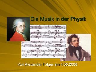 Die Musik in der Physik