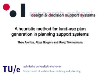 A heuristic method for land-use plan generation in planning support systems