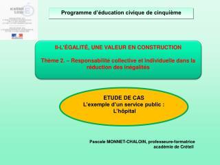 Pascale MONNET-CHALOIN, professeure-formatrice