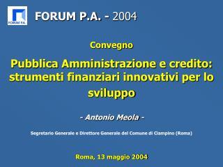 Roma, 13 maggio 2004