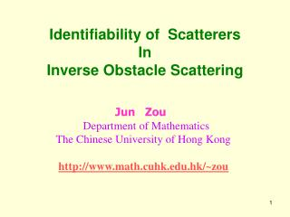 Identifiability of  Scatterers In  Inverse Obstacle Scattering