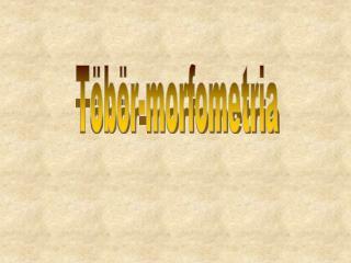 Töbör-morfometria