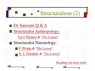 Structuralism 2