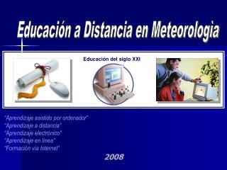 Educación a Distancia en Meteorologìa