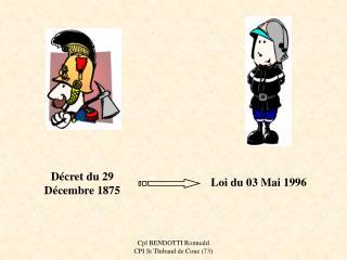 Décret du 29 Décembre 1875