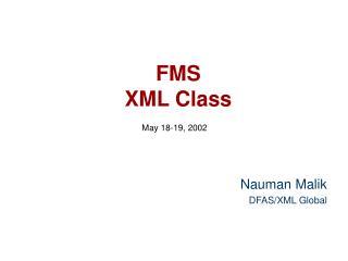 FMS  XML Class