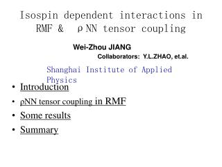 Isospin dependent interactions in RMF &   ρ NN tensor coupling