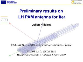 Preliminary results on  LH PAM antenna for Iter