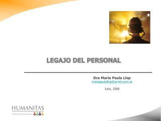 Dra Mar�a Paula Llop mariapaulallop@arnet.ar Julio, 2006