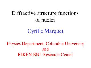 Diffractive structure functions of nuclei