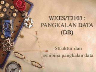 WXES/T2103 : PANGKALAN DATA (DB)