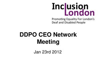DDPO CEO Network Meeting