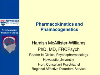 Pharmacokinetics and Phamacogenetics