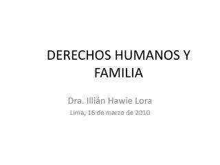 DERECHOS HUMANOS Y FAMILIA