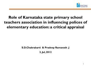 S.D.Chakrabarti  & Pradeep Ramavath .J 3, Jul, 2012