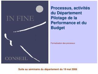 Formalisation des processus