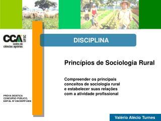 Princípios de Sociologia Rural