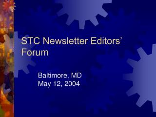 STC Newsletter Editors' Forum