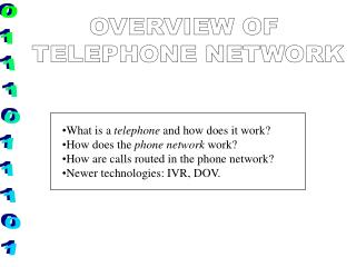 What is a  telephone  and how does it work? How does the  phone network  work?