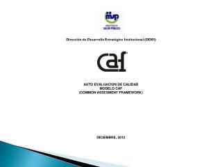Dirección de Desarrollo Estratégico Institucional (DDEI) AUTO EVALUACION DE CALIDAD MODELO CAF
