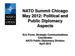 CHICAGO SUMMIT, MAY 2012 1.	Political agenda/Key Themes