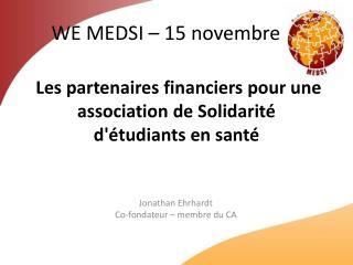 Les partenaires financiers pour une association de Solidarité d'étudiants en santé