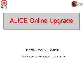 ALICE Online Upgrade