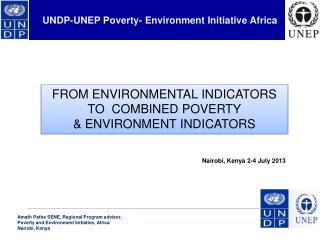 UNDP-UNEP Poverty- Environment Initiative Africa
