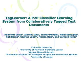 TagLearner: A P2P Classifier Learning System from Collaboratively Tagged Text Documents