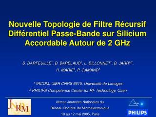 8èmes Journées Nationales du Réseau Doctoral de Microélectronique  10 au 12 mai 2005, Paris
