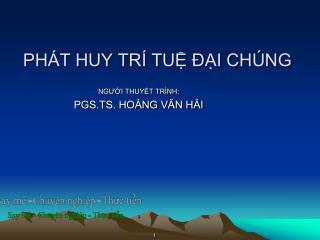 PH�T HUY TR� TU? ??I CH�NG