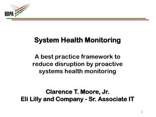 System Health  M onitoring
