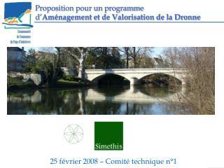 Proposition pour un programme d' Aménagement et de Valorisation de la Dronne