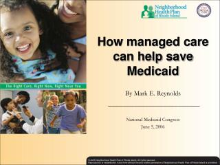How managed care can help save Medicaid