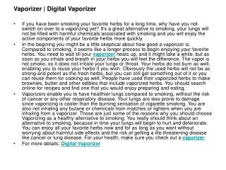 Digital Vaporizer